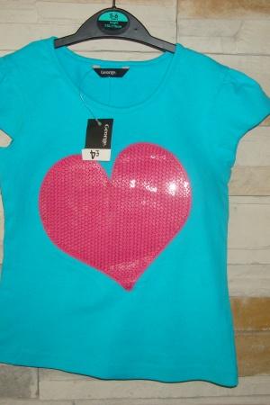 Яркая футболка для девочки - George - George AL0005-g-110-116