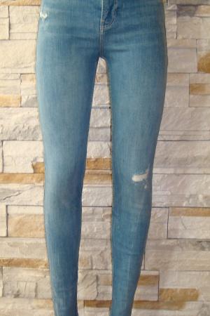 Голубые женские джинсы от Бершка (Испания) - Бершка BR0208-cl-36