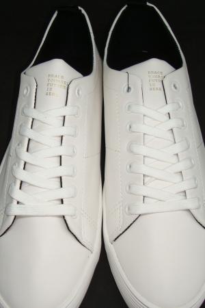 Белые мужские мокасины Бершка (Испания) - Бершка BR0215-sh-44