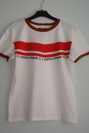 Летняя женская футболка от Зара Испания - Бершка BR0231-cl-S