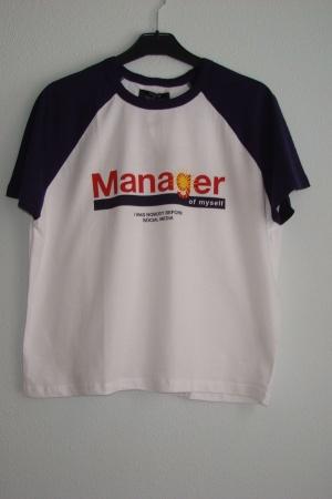 Трендовая женская футболка от Зара Испания - Бершка BR0243-cl-S