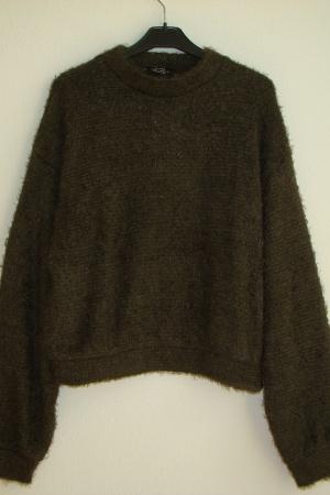 Женский свитер в цвете хаки от Бершка (Испания) - Бершка BR0273-cl-M