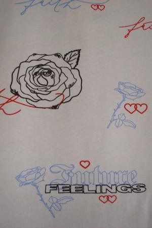 Женская футболка с розами от Бершка - Бершка BR0300-cl-ХS #2