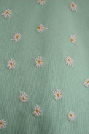 Женская футболка с цветочками Бершка (Испания) - Бершка BR0306-cl-ХS #2