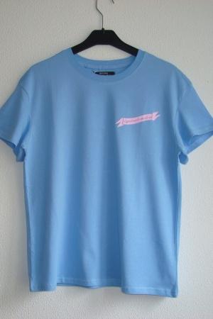 Голубая женская футболка Бершка Испания - Бершка BR0309-cl-S