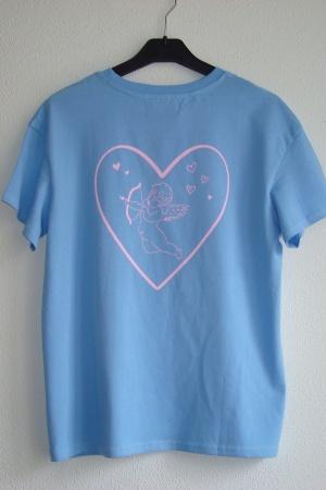 Голубая женская футболка Бершка Испания - Бершка BR0309-cl-S #2