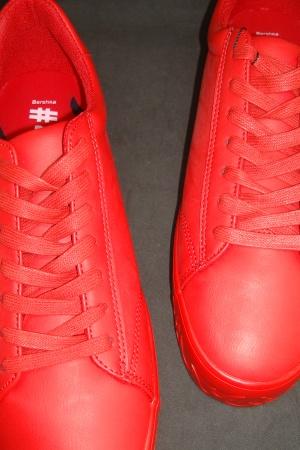 Красные мужские мокасины от Бершка - Бершка BR0324-sh-44