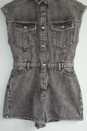 Трендовый женский джинсовый комбинезон ромпер от Бершка - Бершка BR0385-cl-S