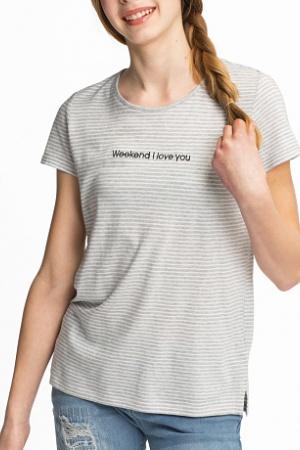 Модная футболка для девочки от бренда C&A (Германия) - C&A C&A0150-cl-134/140
