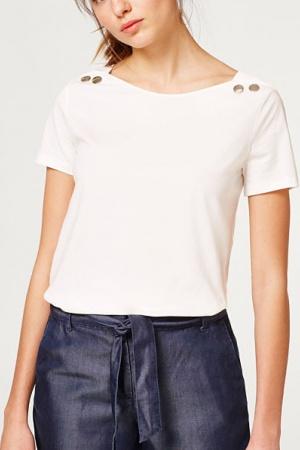 Белая женская футболка от Esprit (Германия) - Esprit ES0001-cl-S