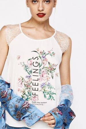 Оригинальная женская блузка от Springfield (Испания) - Springfield FT0011-cl-S