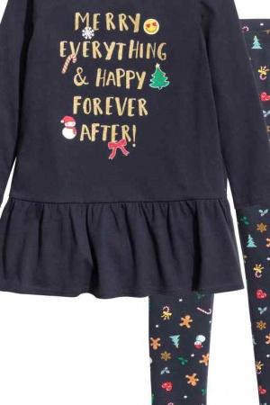 Платье и леггинсы для девочки от H&M (Швеция) - H&M HM0330-cl-122/128
