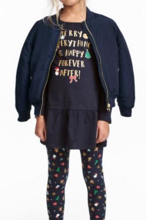 Платье и леггинсы для девочки от H&M (Швеция) - H&M HM0330-cl-122/128 #2