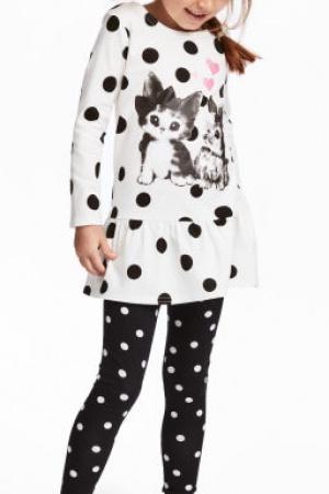 Стильное платье и леггинсы для девочки от H&M (Швеция) - H&M HM0333-cl-134/140 #2
