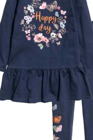 Красивое платье и леггинсы для девочки от H&M (Швеция) - H&M HM0334-cl-134/140