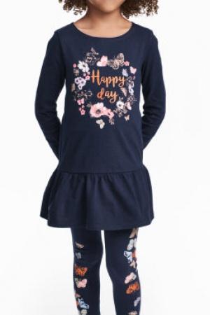 Красивое платье и леггинсы для девочки от H&M (Швеция) - H&M HM0334-cl-134/140 #2