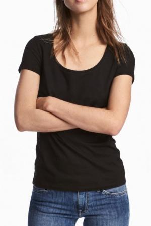 Базовая женская футболка от H&M (Швеция) - H&M HM0359-cl-XS