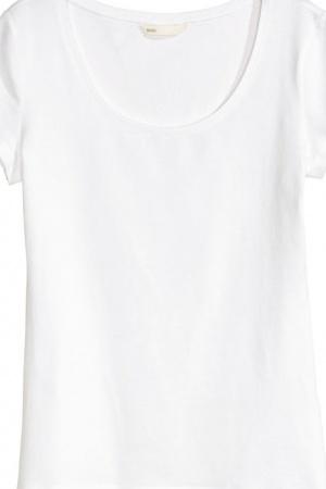 Белая женская футболка от H&M (Швеция) - H&M HM0360-cl-M #2