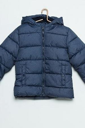Синяя зимняя куртка для мальчика KIABI (Франция)  - Kiabi KI0295-cl-9-10