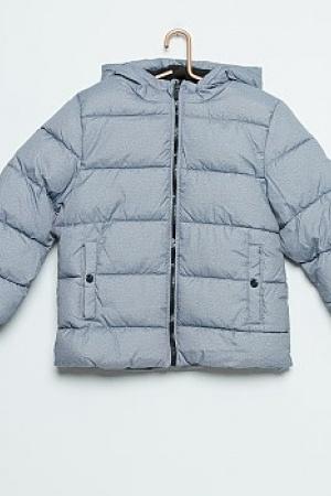 Серая зимняя куртка для мальчика KIABI (Франция)  - Kiabi KI0296-cl-9-10