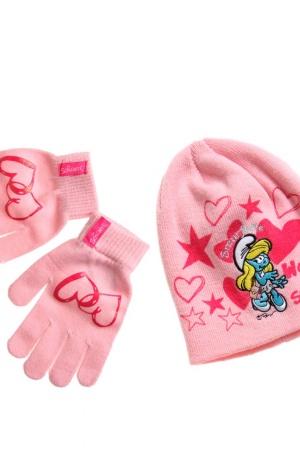 Шапка и перчатки для девочки Смурфики - Смурфики LL0016-g-aks-53