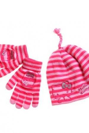 Шапка и перчатки для девочки Hello Kitty - Hello Kity LL0017-g-aks-53