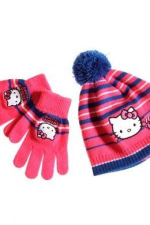 Шапка и перчатки для девочки Hello Kitty - Hello Kity LL0018-g-aks-53