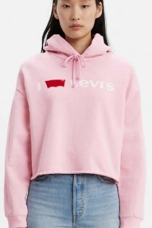 Розовый женский свитшот от Levis (США) - Levis  LV0020-cl-ХS