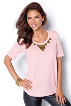 Розовая женская футболка от Venca Испания  - Venca MG0023-cl-XXL