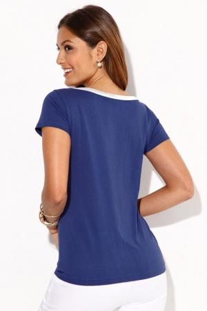 Синяя женская футболка от Venca Испания  - Venca MG0024-cl-S #2