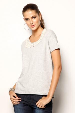 Серая женская футболка от Venca (Испания) - Venca MG0027-cl-S