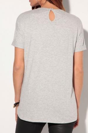 Серая женская футболка от Venca (Испания) - Venca MG0027-cl-S #2