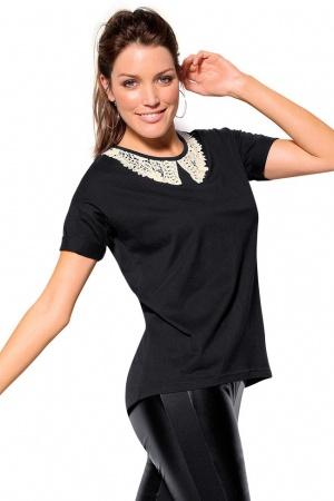 Черная женская футболка от Venca (Испания) - Venca MG0028-cl-М