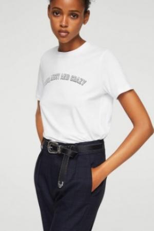 Базовая женская футболка от Mango (Испания) - Mango MNG0223-cl-M