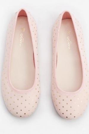 Розовые балетки для девочки от Mango  - Mango MNG0290-sh-36 #2