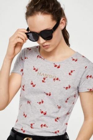 Легкая женская футболка от Манго (Испания) - Mango MNG0337-cl-S