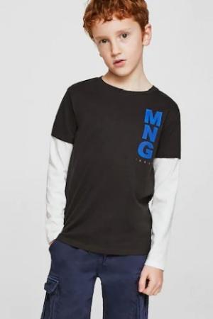 Стильный реглан для мальчика от Mango Испания - Mango MNG0353-cl-140