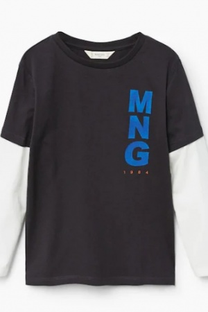 Стильный реглан для мальчика от Mango Испания - Mango MNG0353-cl-140 #2