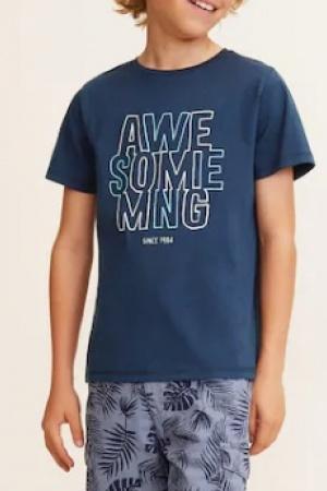 Синяя футболка для мальчика от Mango (Испания) - Mango MNG0381-cl-152