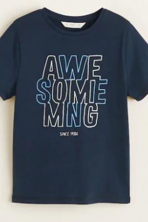 Синяя футболка для мальчика от Mango (Испания) - Mango MNG0381-cl-152 #2