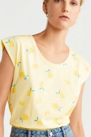 Женская футболка с лимонами от Mango (Испания) - Mango MNG0389-cl-M