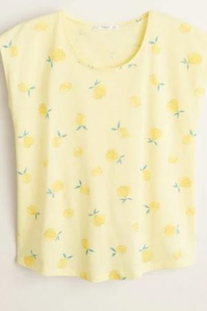 Женская футболка с лимонами от Mango (Испания) - Mango MNG0389-cl-M #2