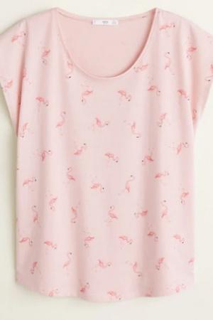 Красивая женская футболка с фламинго от Манго (Испания) - Mango MNG0391-cl-S #2