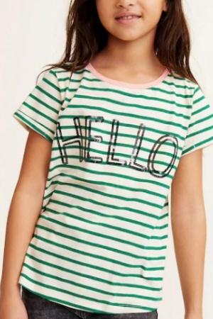 Ультрамодная футболка для девочки от Mango (Испания) - Mango MNG0400-cl-164