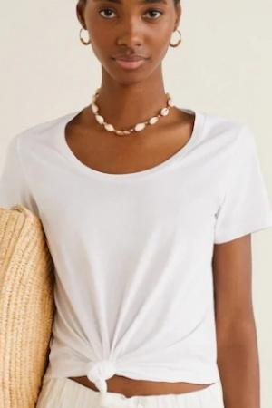 Базовые женские футболки Mango Испания  - Mango MNG0423-cl-L