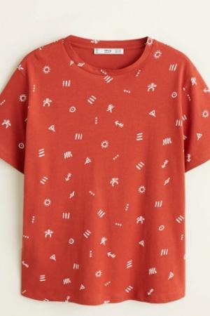 Яркая женская футболка от  Mango (Испания) - Mango MNG0431-cl-S #2