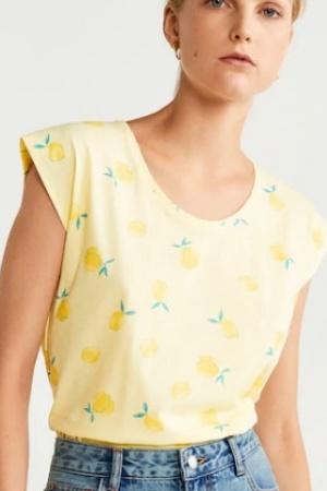 Женская футболка с лимонами от Mango (Испания) - Mango MNG0434-cl-S