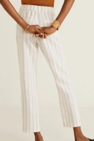Стильные женские льняные  брюки от Mango (Испания) - Mango MNG0436-cl-S #2
