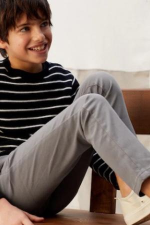 Серые штаны чинос для мальчиков от Mango (Испания) - Mango MNG0481-cl-140 #2