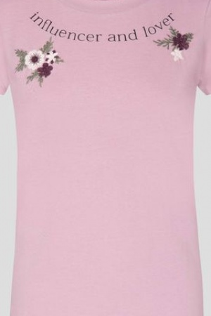 Розовая женская футболка от Orsay (Германия) - Orsay OR0069-cl-S